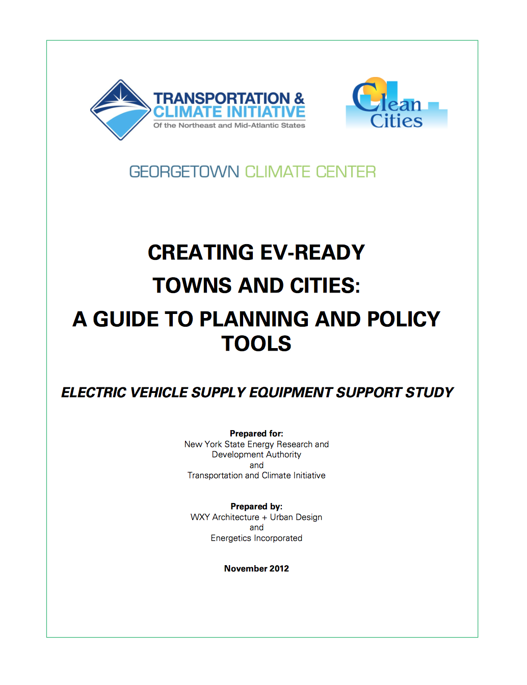 Creating EV-Ready Towns and Cities: A Guide to Planning and Policy Tools