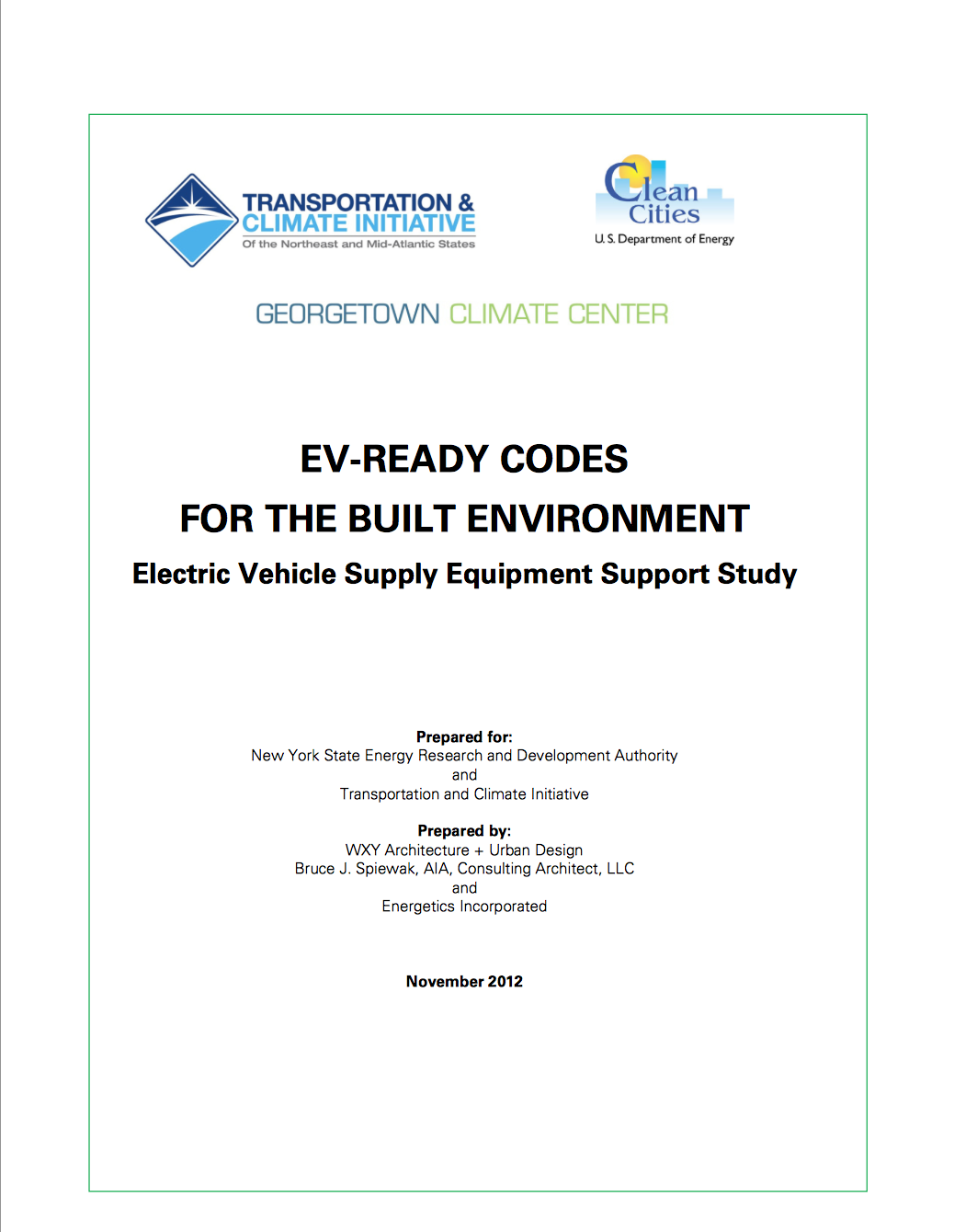 EV Ready Codes for the Built Environment