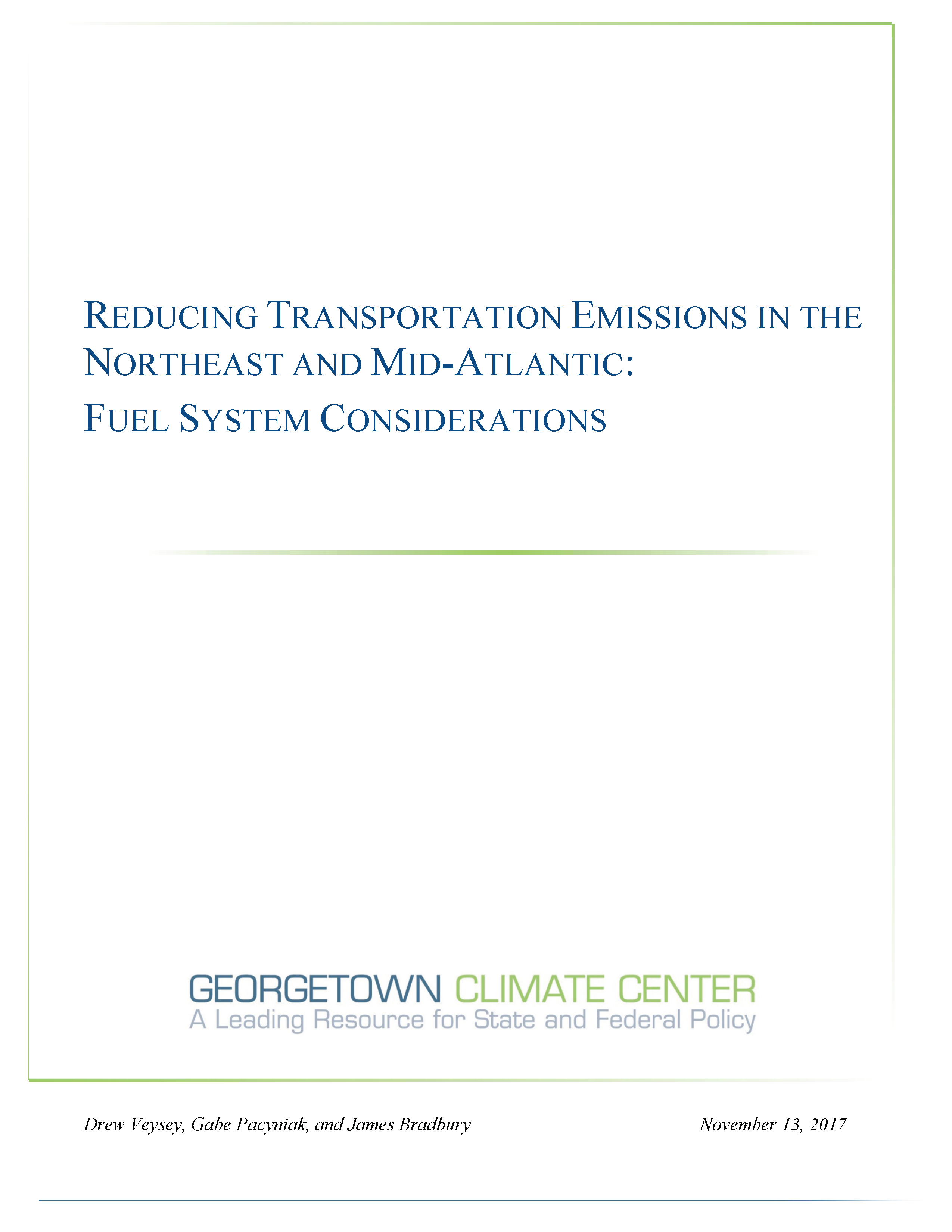 Reducing Transportation Emissions in the Northeast and ...